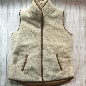 Old Navy fuzzy fleece vest